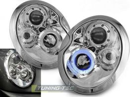 Фары передние MINI Cooper R50, R52, R53 ANGEL EYES CHROME