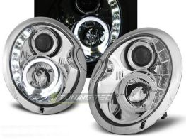 Фары передние MINI Cooper R50, R52, R53 DAYLIGHT CHROME