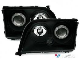 Фары чёрные MERCEDES S W140 (91-98) - линзовые