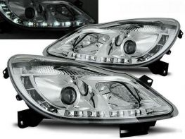 Фары передние OPEL Corsa D (06-11) DAYLIGHT CHROME