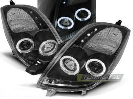 Оптика передняя TOYOTA Yaris II (05-09) ANGEL EYES BLACK
