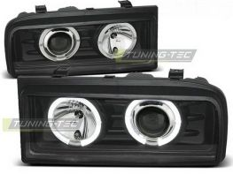 Фары передние VW Corrado ANGEL EYES BLACK