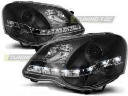 Фары VW Polo 9N3 (05-09) рестайлинг DAYLIGHT BLACK