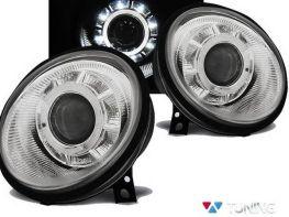 Фары передние VW Lupo (1998-2005) хром LED