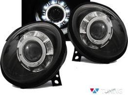 Фары передние VW Lupo (1998-2005) чёрные LED