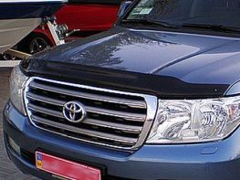Мухобойка TOYOTA Land Cruiser 200 (2007-) с загибом SIM