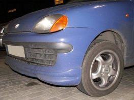 Накладка на передний бампер FIAT Seicento (1998-)