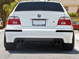 Диффузор заднего бампер (2 выхлопа) BMW E39 (95-04)