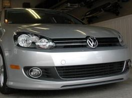 Юбка передняя VW Golf VI (08-12) - R Line стиль