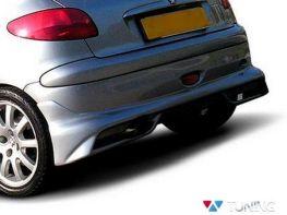 Накладка на задний бампер PEUGEOT 206 Hatchback GTI/S16/CC
