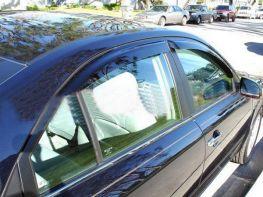 Ветровики HYUNDAI Sonata NF (04-09) Sedan - Hic (накладные)