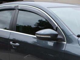 Ветровики VW Passat B8 (15-) Variant - HIC (с хром молдингом)