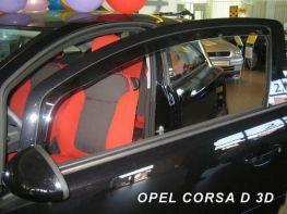 Ветровики OPEL Corsa E (14-) 3D - Heko (вставные)