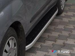 """Пороги боковые FIAT Doblo II (2010-) """"DOLUNAY"""""""