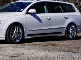 Накладки на пороги VW Passat B6 (05-10) - VOTEX стиль