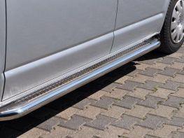 Пороги боковые VW T5 (03-15) стальные - PREMIUM