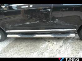 Пороги боковые VW Touareg II (2011-) трубы