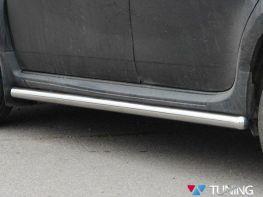 Пороги боковые VW Touareg II (2011-) - трубы