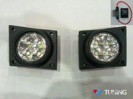 Противотуманки FIAT Fiorino (2008-) диодные LED DRL