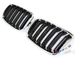 Решётка радиатора BMW X5 E70 / X6 E71 - М стиль хром