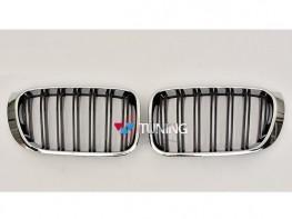 Ноздри BMW X3 F25 / X4 F26 (14-17) - M стиль хром