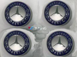 Колпачки в титановые диски MERCEDES W169 - AMG синие