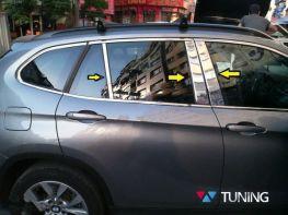 Хром молдинги дверных стоек BMW X1 E84 (2009-)