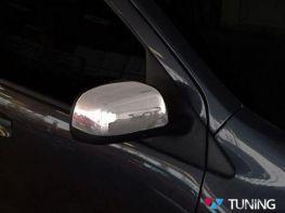 Хром накладки на зеркала DACIA (RENAULT) Duster (2010-) узкие