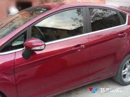 Хром нижние молдинги стёкол FORD Fiesta Mk7 (2008-) 5D