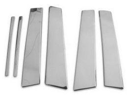 Хром молдинги дверных стоек KIA Sportage III (2010-) OMSA