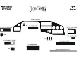 Накладки на торпедо MERCEDES Sprinter TDI (95-01) MERIC