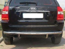 Защита заднего бампера (труба) KIA Sportage II (04-09)