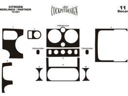 Накладки на торпедо CITROEN Berlingo I FL (02-08)