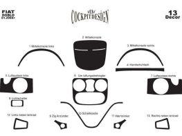 Накладки на торпедо FIAT Doblo I (2006-2009)