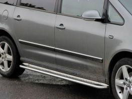 Пороги боковые VW Sharan II (10-) - Premium