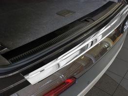 Накладка на задний бампер AUDI Q7 II (16-/20-) - Avisa (карбон)