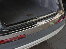 Накладка на задний бампер AUDI Q7 II (16-/20-) - Omsa (сталь)
