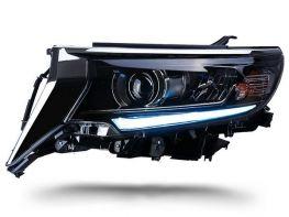 Фары чёрные TOYOTA LC J150 Prado IV (18-19) - LED DRL