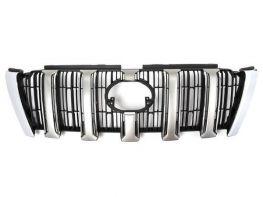 Решётка TOYOTA LC J150 Prado IV (14-17) - OEM серебряные рёбра