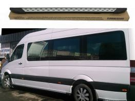 Пороги боковые MERCEDES Sprinter W907 (19-) - Dot Line