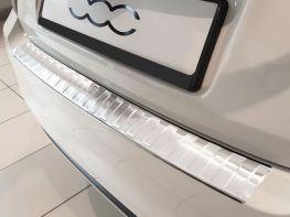 Накладка на задний бампер FIAT 500 (15-17) Hb - стальная