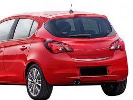 Хром на кромку багажника OPEL Corsa E (14-19) 5D