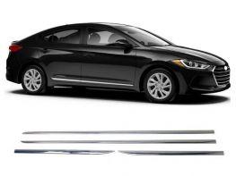 Хром молдинги дверные Hyundai Elantra VI (AD; 16-20)