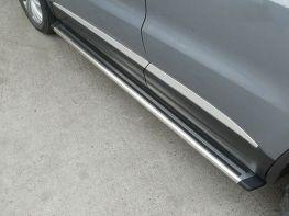 Пороги боковые VW Tiguan (07-15) - OEM