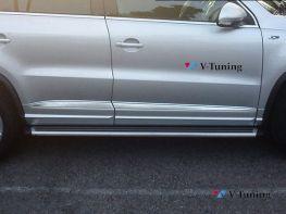 Пороги боковые VW Tiguan (2007-2015) оригинал стиль