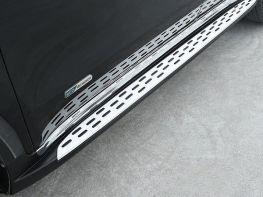 Пороги боковые KIA Sportage IV (QL) (16-18) - MERCEDES стиль