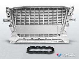 Решётка радиатора AUDI Q5 8R (2008-2012) S-LINE серебряная