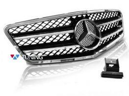 Решётка MERCEDES E W212 (09-13) - AMG стиль хром чёрная