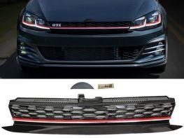 Решётка VW Golf VII (17-19) - GTI стиль (красная полоса)