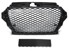 Решётка AUDI A3 8V (12-16) - RS3 стиль (глянцевая чёрная)